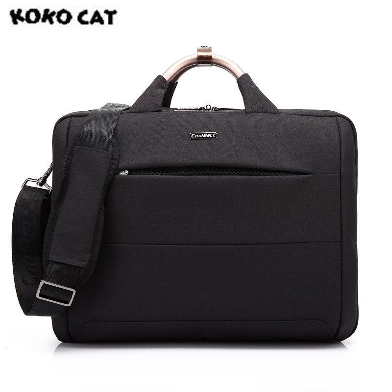 In Stock 2017 KOKOCAT Oxford Fashion 15.6 inch Notebook Computer Laptop Handbag for Men Women Solid Black Briefcase Bags 6305