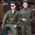 100% algodón conjunto de ropa de trabajo engrosamiento primavera y otoño masculino de manga larga utillaje uniforme Militar Caza al aire libre de Trabajo