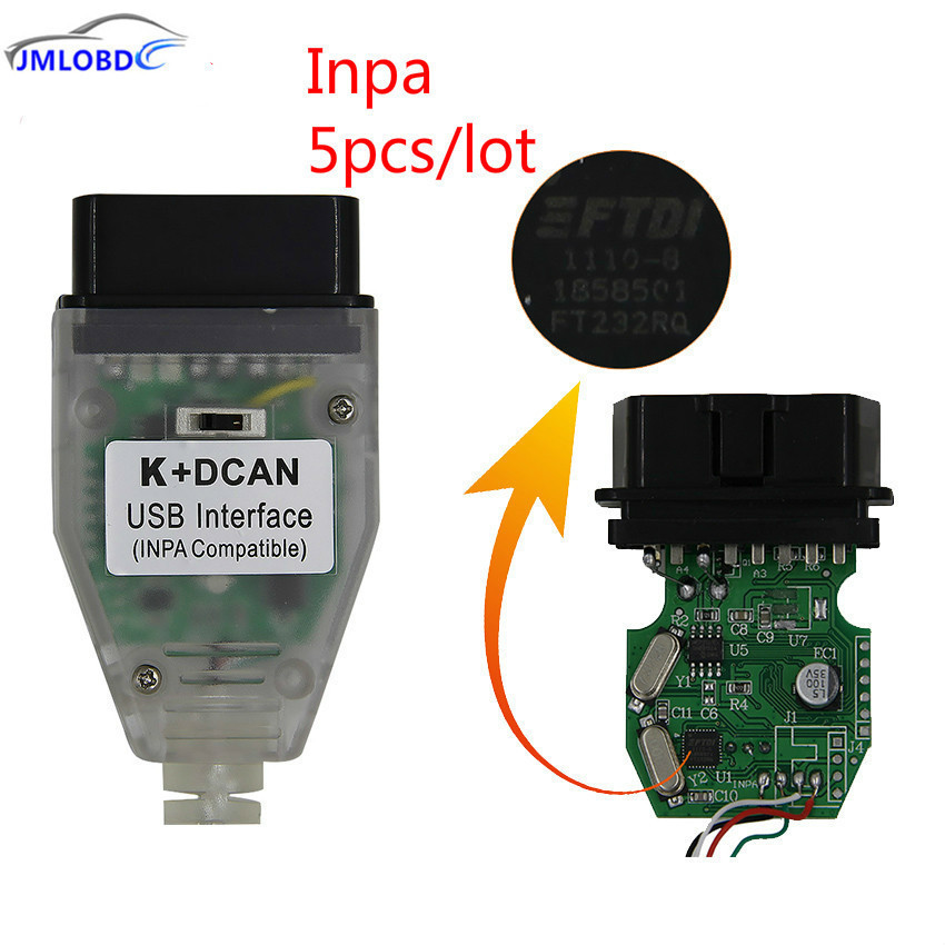 2018 For BMW INPA K+CAN With FTDI FT232RQ Chip with Switch K+D CAN USB OBD Interface INPA Compatible For BMW K-LINE Protocol