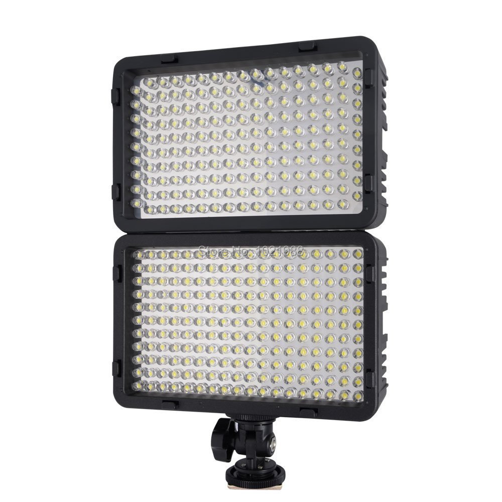 Mcoplus 322 LED Dimmable Video Light Lamp for Canon Nikon Pentax Sony Olympus Digital SLR Camera