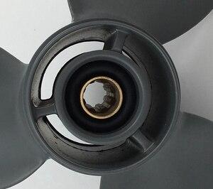 Image 4 - Бесплатная доставка 9 1/4x11 или 9,25x11 для 8hp 20hp honda пропеллер4stroke 8 tooth honda Подвесные лодочные моторы алюминиевые пропеллеры