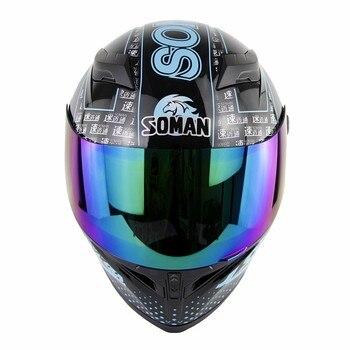 New Motorcycle Helmet Full Face Casque Moto Riding ABS Motocross Mens Motorbike Capacete  ECE Certification Casco