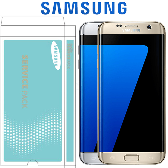 ORIGINAL 5.5 Display with Burn Shadow LCD with Frame for SAMSUNG Galaxy S7 edge G935 G935F Touch Screen Digitizer Assembly