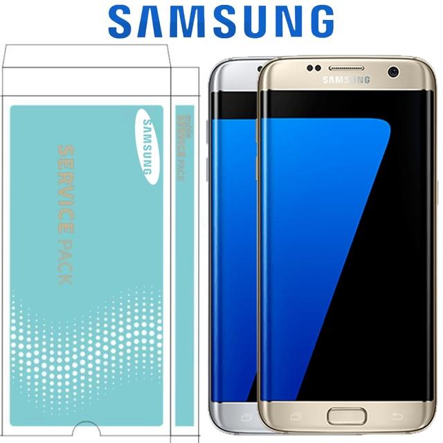 """ORIGINAL 5,5 """"Pantalla con quemar sombra LCD con marco para SAMSUNG Galaxy S7 borde G935 G935F pantalla táctil digitalizador de montaje"""