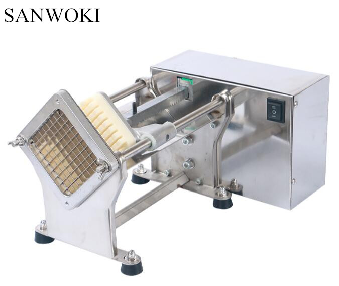 Electric Potato Slicer ~ Commercial electric potato french fries cutter slicer in