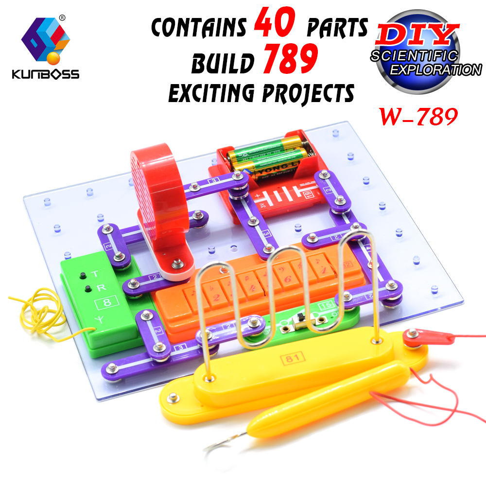 все цены на 2018hot sell w-789 STEM Physics Science Lab Basic Circuit Learning Kit Electricity and Magnetism Experiment Electronics for Kid