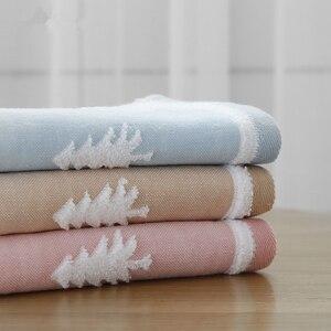 Image 4 - 25x50cm 100% toalha de algodão árvore de natal cervos padrão chlid rosto do bebê mão toalha de natal toque macio rápido seco toalha