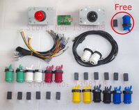 Arcade mame DIY KIT for 2 players PC PS/3 2 IN 1 to arcade joystck button interface USB 2 player MAME Interface USB to Jamma