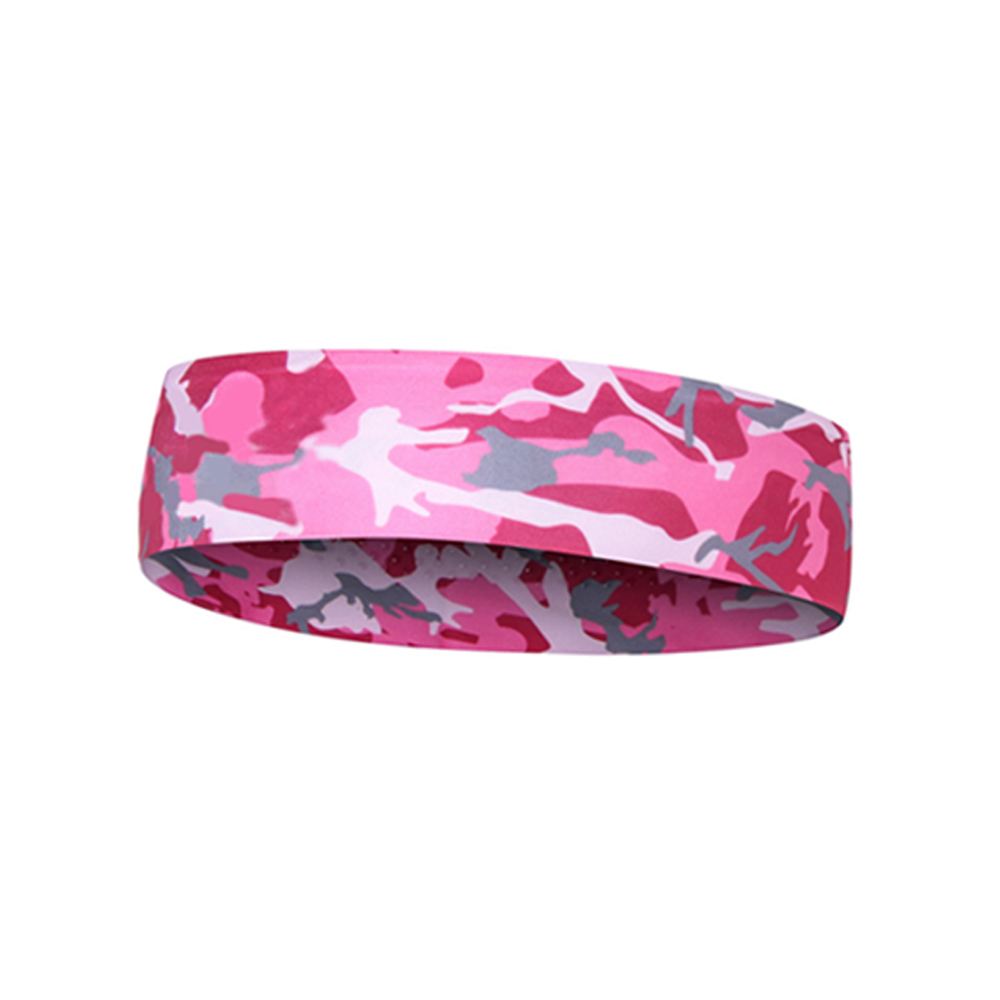 Pink Camo Floral Sport Sweatband Headband Head Sweat Band Yoga Running Tennis Headscarf Silicone Anti-slip HairBand yoga gym sport stretch headband womens anti sweat hairband cotton men women sweatband running outdoor fitness