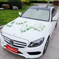 Artificial Flowers Wedding Car Decoration Wedding Pompoms Silk Flower Garland DIY Wreath Wedding Accessories