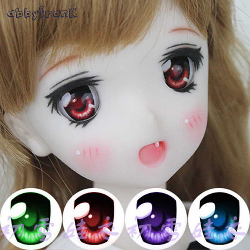 Abbyfrank 1 Pair Acrylic Eyes For Toy SD BJD Eye Doll Cartoon 14mm 16mm 18mm 1/3 1/4 1/6 For BJD Doll Accessories Anime For Doll 1pair new fashion sd bjd doll accessories casual shoes for bjd doll 1 4 1 3