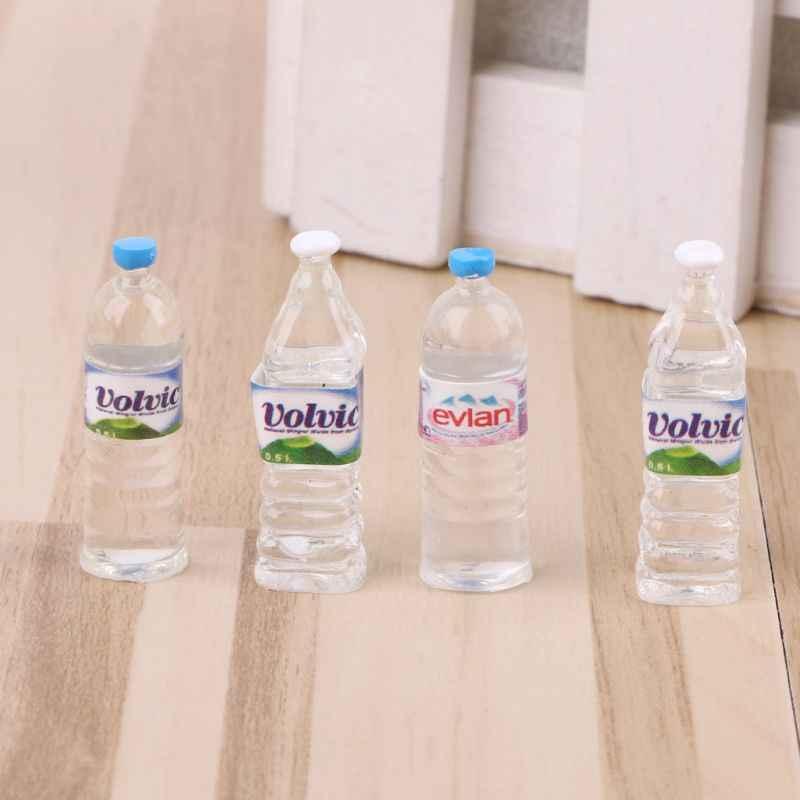 4 ชิ้น/เซ็ต 1:12 ของเล่นน้ำขวดชุดตุ๊กตา Miniature ดื่มอุปกรณ์เสริมเด็กแกล้งทำเป็นเล่นของเล่น Toy น้ำขวด