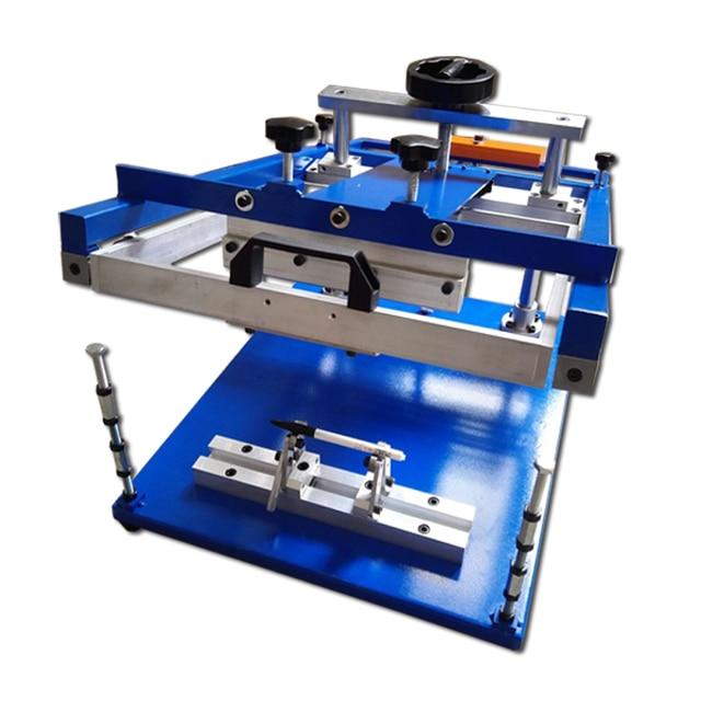 cheap single color logo printing machine penholder/ pen screen printer machine/pen case silkscreen printer