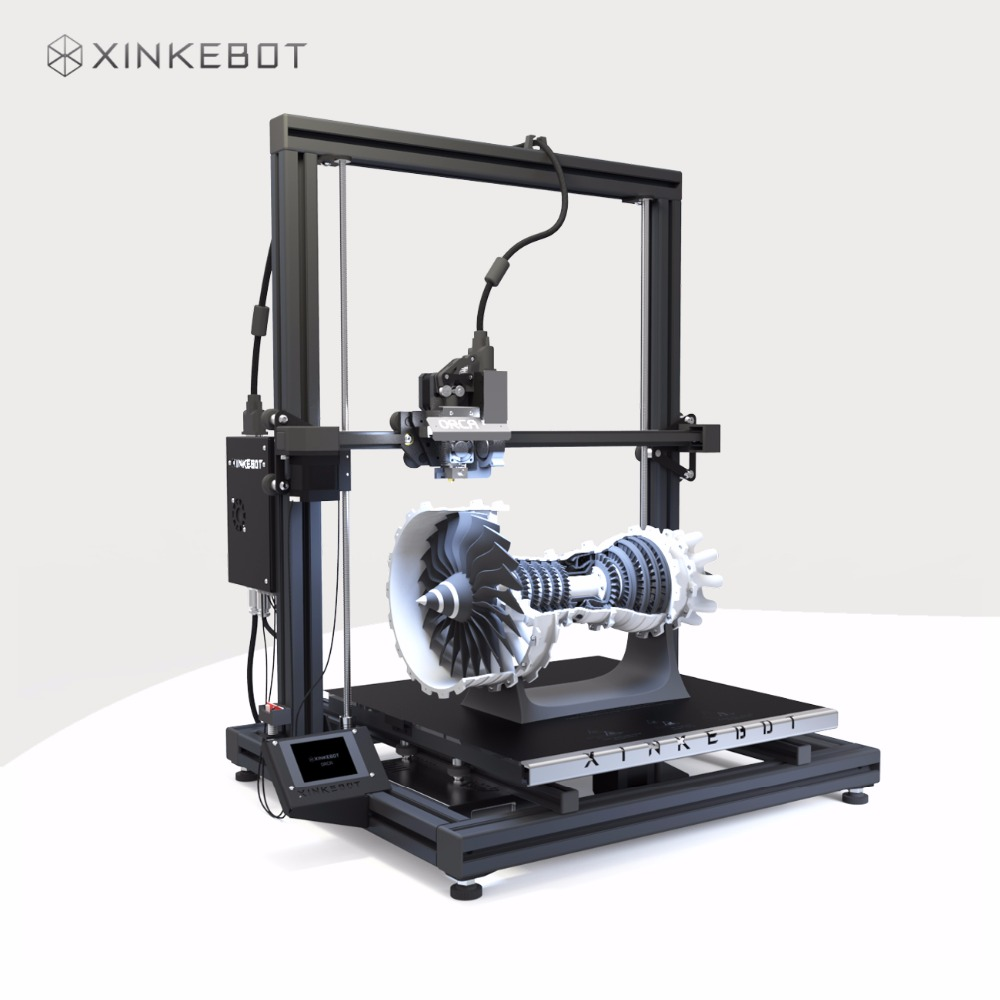 XINKEBOT Big Size Orca2 Cygnus Dual Extruder Large 3D Printer with Auto Leveling Heated Bed Fast Shipping xinkebot 3d printer orca2 cygnus dual extruder high resolution big impressora 3d with free filament