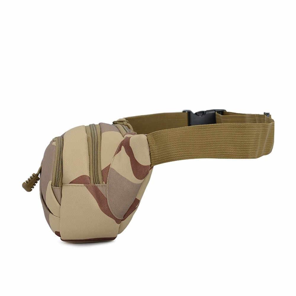 Unissex sacos de cintura moda multifuncional saco crossbody lona camuflagem ao ar livre casual saco peito bolsa de cintura *