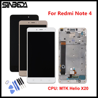 Sinbeda AAA Quality For Xiaomi Redmi Note 4 LCD Display Touch Screen Digitizer Assembly Frame MTK