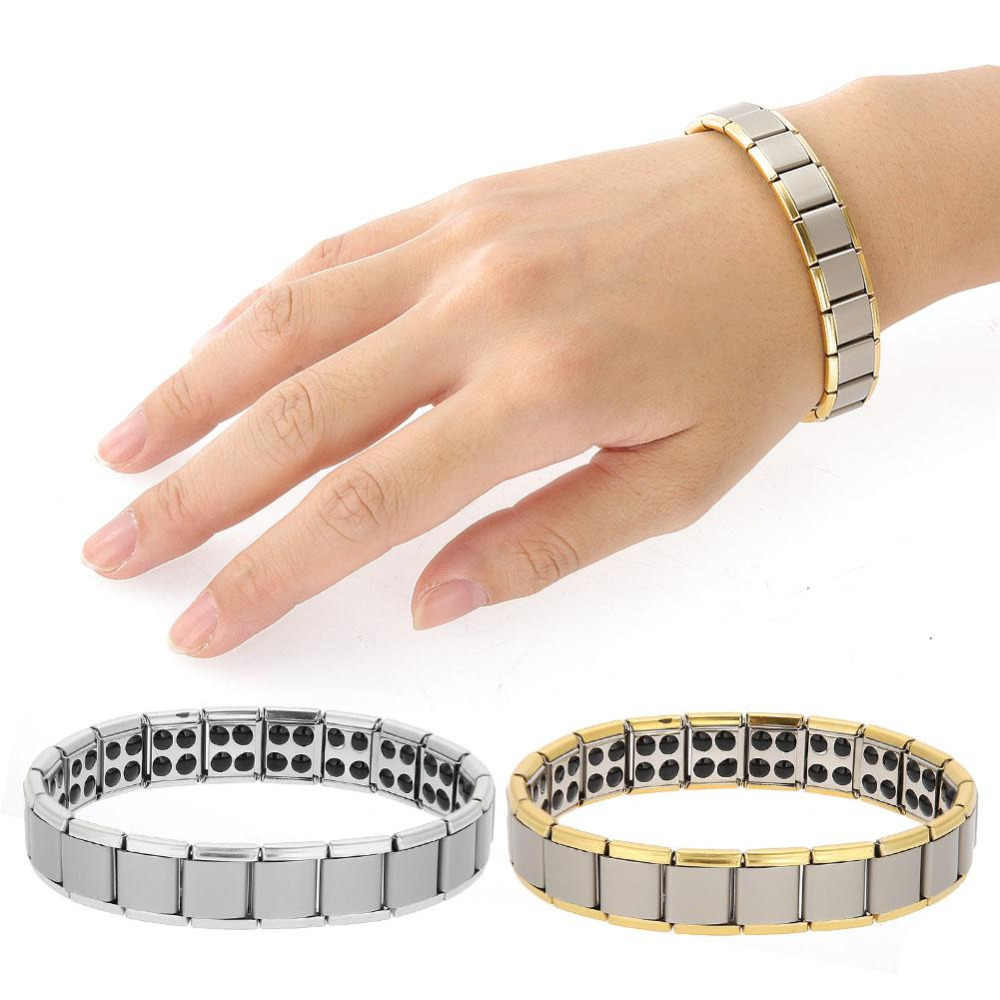 Hand Massage Titanium Steel Bracelet Massager Magnet Health Healing Jewelry