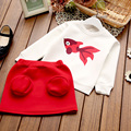 2017 New children costumes girls casual fish print clothing sets for girls spring & autumn kids girls long sleeve sets 2PCS
