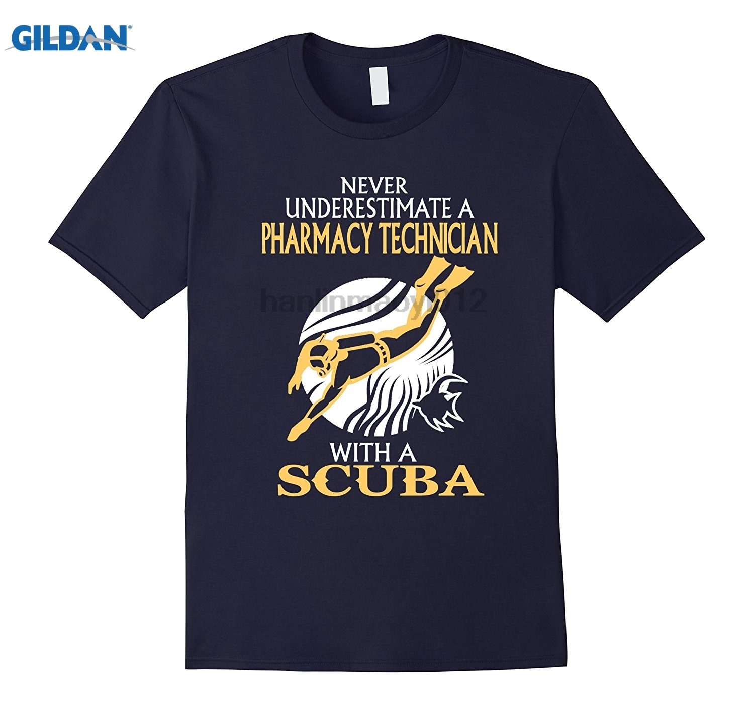 GILDAN Pharmacy Technician With A Scuba Tshirt Hot Womens T-shirt