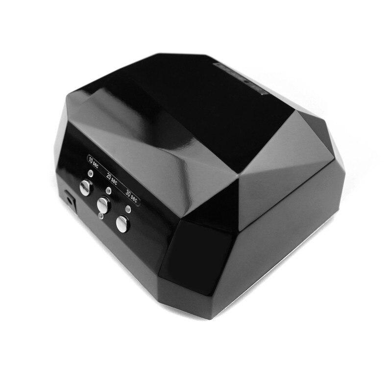 CCFL 36W LED Light Nail Dryer Diamond Shaped Best Curing Nail Art Lamp Care Machine For UV Gel Nail Polish 110-220V EU,US Plug free shipping wholesale new arrival best 40w diamond uv led light super diamond ccfl nail led uv lamp