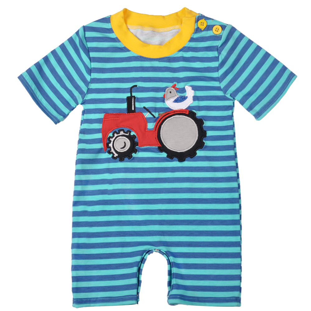 Baby Girl Clothes Summer Newborn Toddler Infant Kids Chick Blue Stripe Fashion Knitted Cotton Boy Rompers BPF801-008 2017 new fashion cute rompers toddlers unisex baby clothes newborn baby overalls ropa bebes pajamas kids toddler clothes sr133