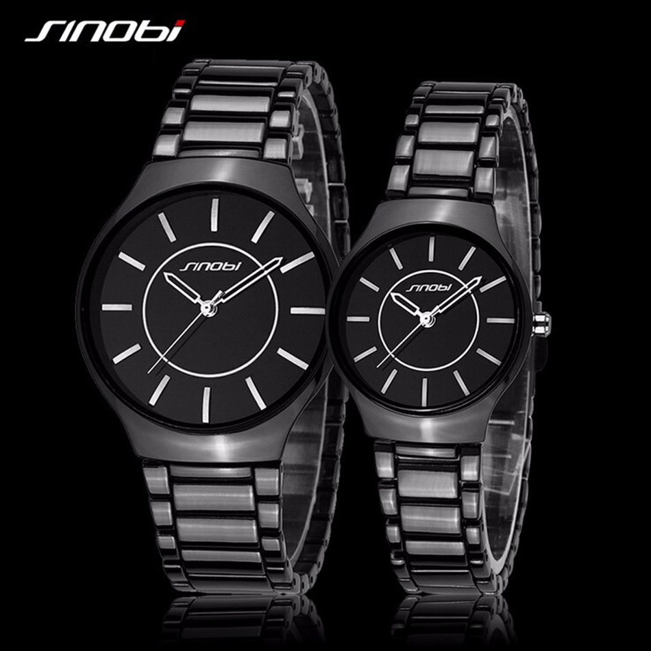 bc82481db2 2018 Minimalist Couple Quartz Watches Stainless Steel Waterproof Couple  Watches for Lovers Gift Best Price Buy ...