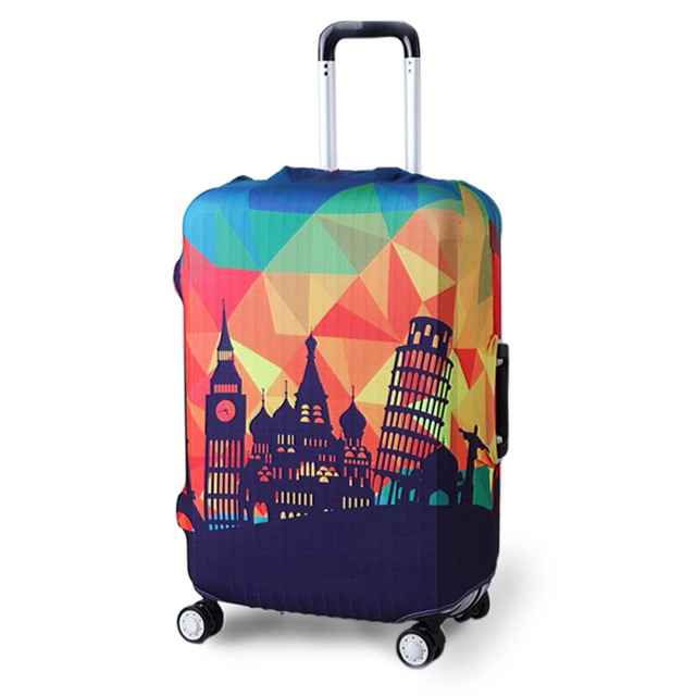 TRIPNUO Thicker Blue City Luggage Cover Travel Suitcase Protective Cover for Trunk Case Apply to 19''-32'' Suitcase Cover 2