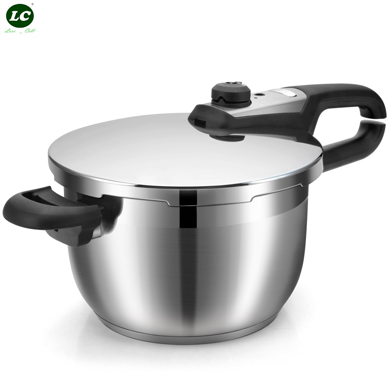 5L Pressure Cooker Stainless Steel Stew Pot 2lids <font><b>Inox</b></font> Cooking Pot Pressure Cooker <font><b>Kitchen</b></font> <font><b>Tool</b></font> image