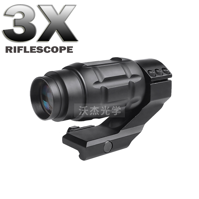 Tactical Hunting 3X Rifle Scopes Airsoft Holografische Optische Telescope Scope 20mm Rail Chasse Caza Luneta Para Rifle Optics