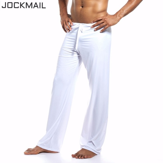 JOCKMAIL Brand Sports Fitness Man Yoga Pants vertical smooth gym Sportswear For Fitness Running Bodybuilding Clothes Gay