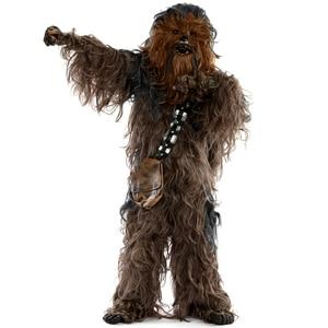 Image 2 - מלחמת הכוכבים Chewbacca קוספליי תלבושות ליל כל הקדושים מסיבת תחפושות חליפת סרבל קסדת כפפות תיק נעל כיסוי