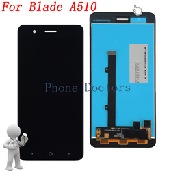 5.0'' Full LCD DIsplay + Touch Screen Digitizer Assembly For ZTE Blade A510 ; Black ; New ;100% Tested