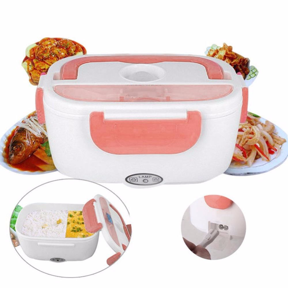220V/110V Portable Rice Cookers Electric Lunch Box Heated Food Containers Meal Prep Rice Food Warmer For Home Office Car Travel