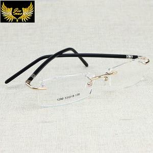 Image 3 - Yeni Varış Erkekler Tarzı Çerçevesiz Gözlük Moda erkek Küçük Boy Gözlük Marka Tasarım Optik Çerçeve erkek Gözlük