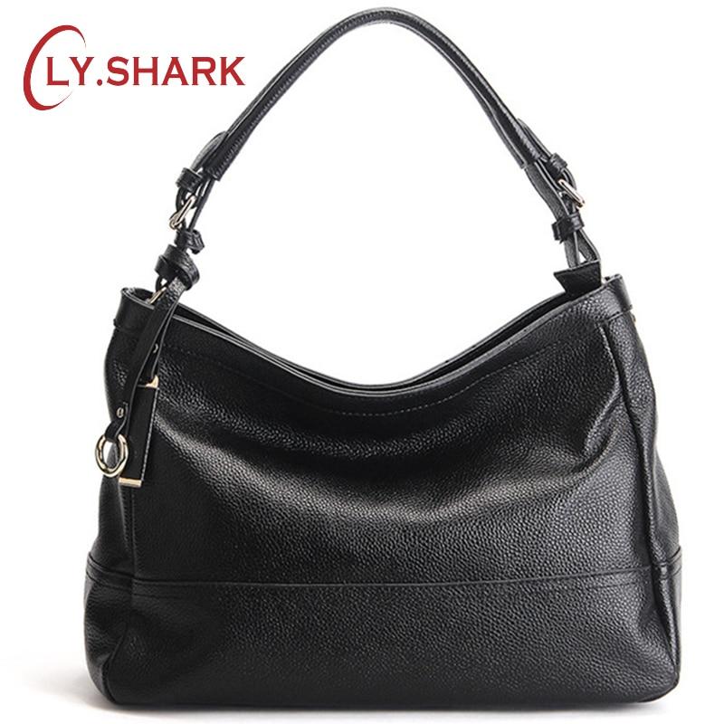 LY.SHARK borsa a tracolla in vera pelle di marca borsa a tracolla - Borse