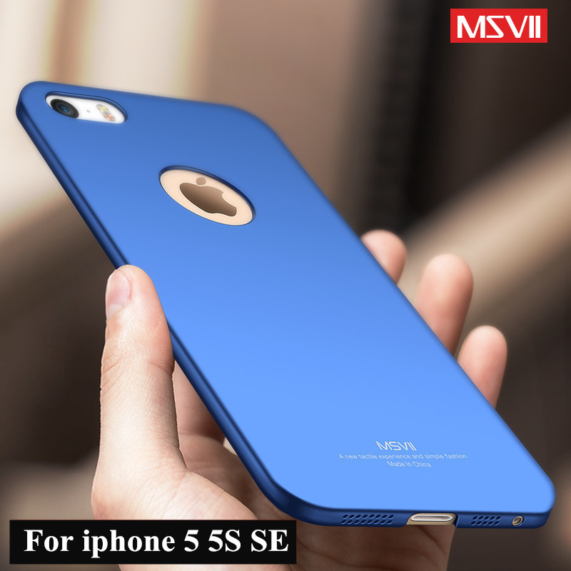 MSVII luxury phone case For apple iphone SE 5SE case Ultra Thin 360 Full Protection hard PC Back cover For iphone 5 S 5S cases