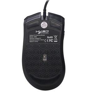Image 2 - HXSJ 新色発光ゲーミングマウス 7 ボタン 3200 dpi オフィスノート pc usb マウス abs 材料