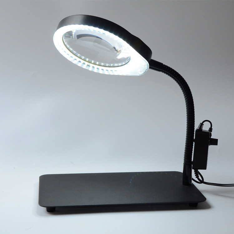 8X 48 LED Light Magnifier & Desk Lamp Helping Desktop Magnifying Tool / Desktop Magnifying glass with usb new universal desktop magnifier usb with led light 10x for maintenance reading micro engraving magnifying glass