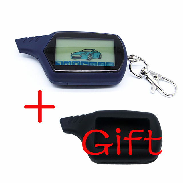 A61 2 way LCD Remote Control Key Fob Chain Keychain A61 dialog Russian Vehicle Security Two Way Car Alarm System Starline A61