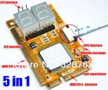 Best 5 in 1 Mini Combo Debug Test Card (Support PCI-E, PCI, LPC, I2C, ELPC) For Laptop Motherboard Free Shipping(China)
