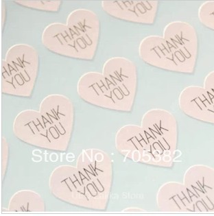 100pcs/lot THANK YOU heart design Sticker Labels Seals.3.8cm, Gift stickers for Wedding seals (SS-7132)100pcs/lot THANK YOU heart design Sticker Labels Seals.3.8cm, Gift stickers for Wedding seals (SS-7132)