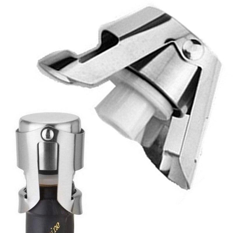 Paslanmaz çelik şampanya şarap şişe tıpası taşınabilir mühürleyen Bar stoper şarap Stopper köpüklü şarap şampanya kapağı 301-0617
