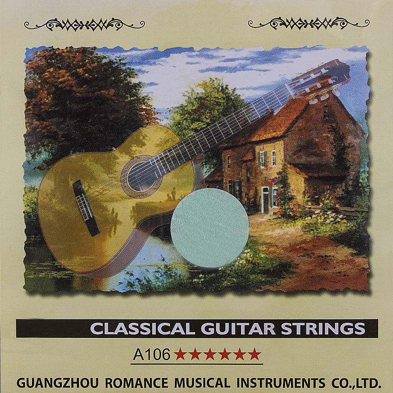 Guitar Class Strings Set 6-string Guitar Classic Clear Nylon Strings Silver Plated Copper Alloy Lound - Alice A106