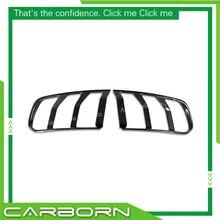 For Ford Mustang 2015 2016 2017 Gloss Black Carbon Fiber Tail Light Cover цены онлайн