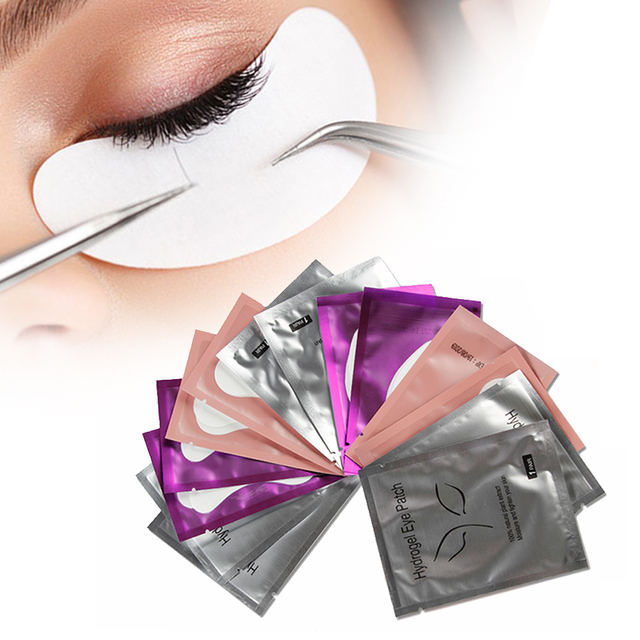 150 Pairs Lint-free Pillows for Eyelash Extension Under Eye Lashes Patches Disposable Mixed Paper Pillow for Eyelashes Makeup