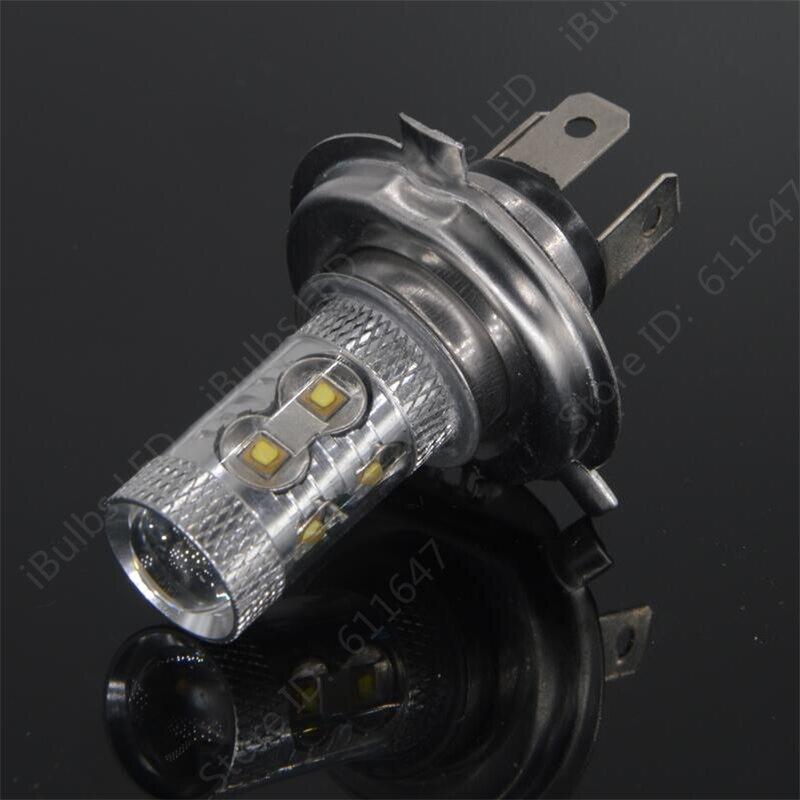 2шт H4 светодиодные Противотуманные фары 12V 24V автомобиль DRL свет колбы лампы освещение автомобиля заменить ксенон-галогеновая лампы