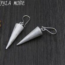 925 Thai Silver Cubic Spike Charm Drop Earrings Romantic&Trendy Women Jewelry Wanita Cantik Bijoux Perhiasan Wholesale