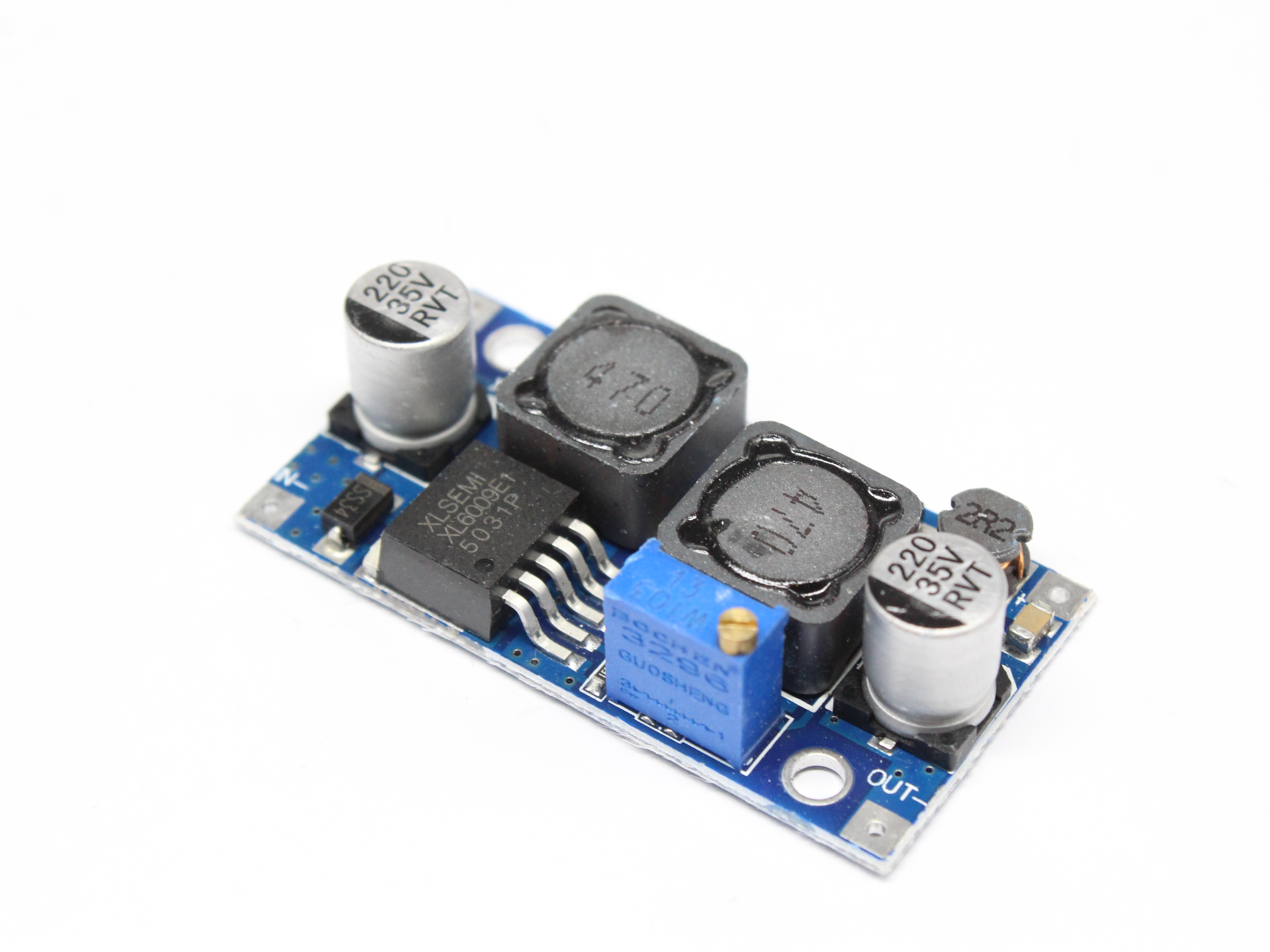 Image 4 - DC DC XL6009 Auto Boost Buck réglable abaisseur convertisseur Module solaire 1.25 36 V tension carte MOSFET commutateur DSN6000AUDCircuits intégrés   -