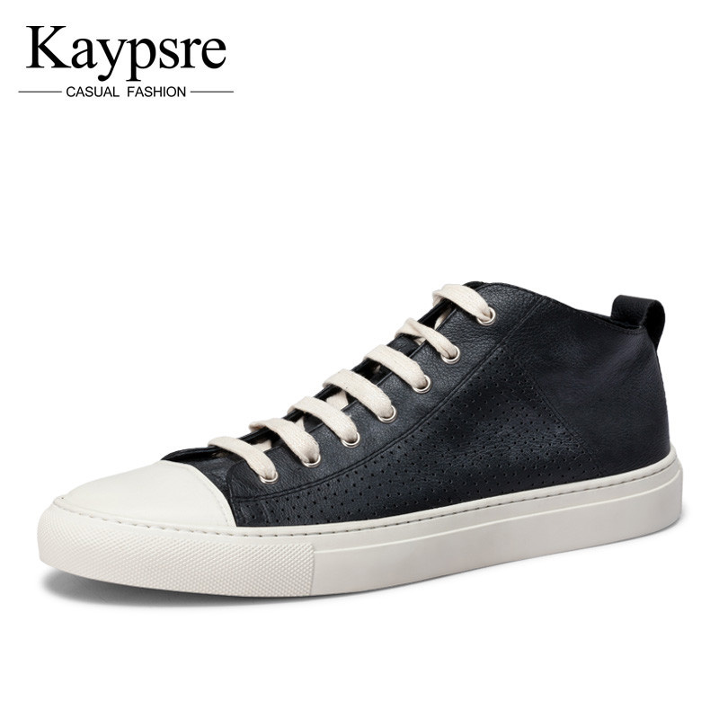 Kaypsre Spring/Autumn New simple fashion casual shoes tide genuine leather Breathable round head low-help board shoes