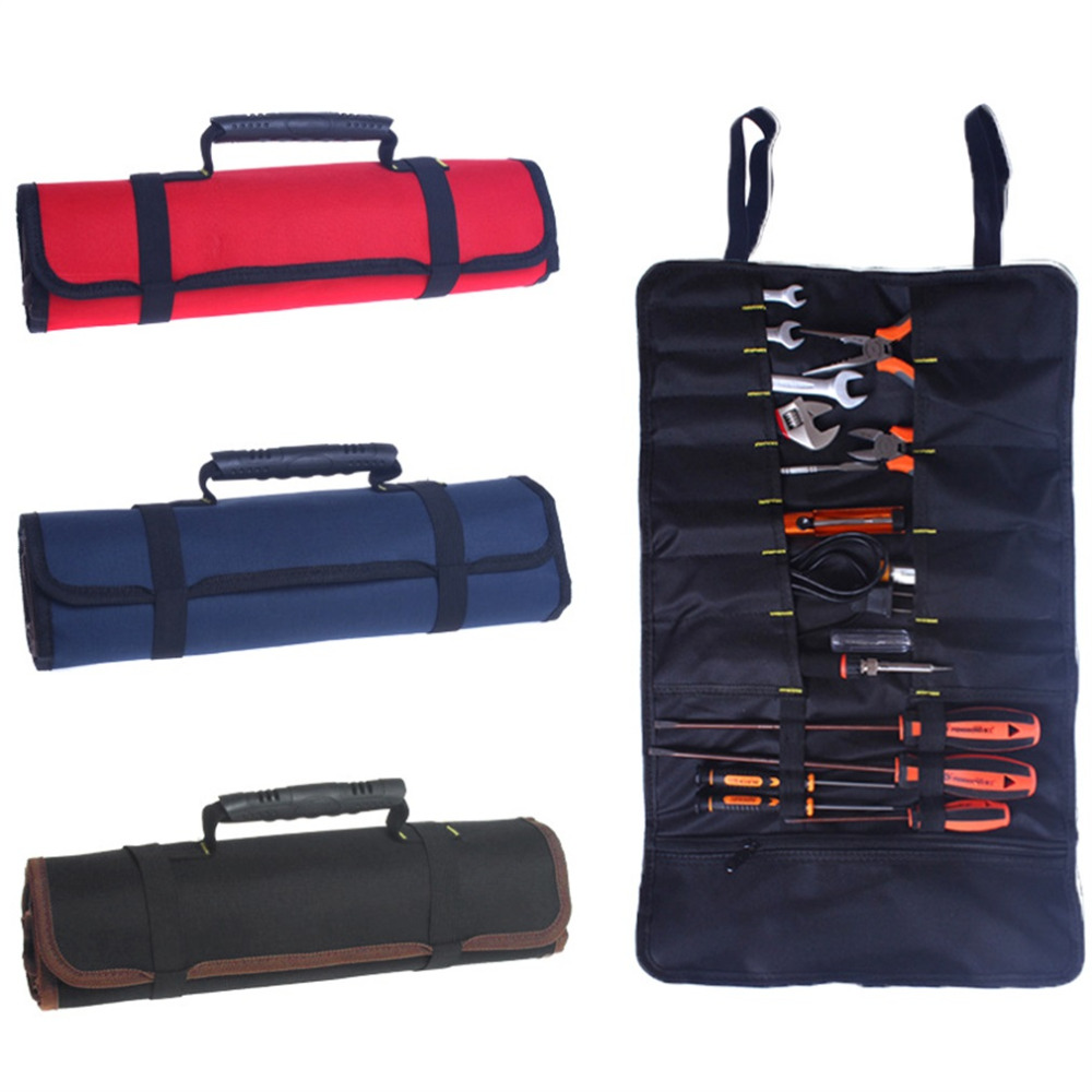 Multifunctional Oxford Canvas Chisel Roll Rolling Repairing Tool Utility Bag With Carrying Handles 3 Colors Free Shippping